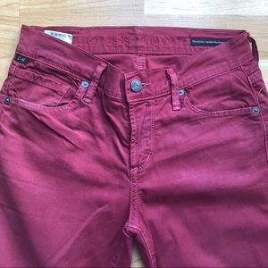 Citizens of Humanity Straight Leg Pants Jeans Red